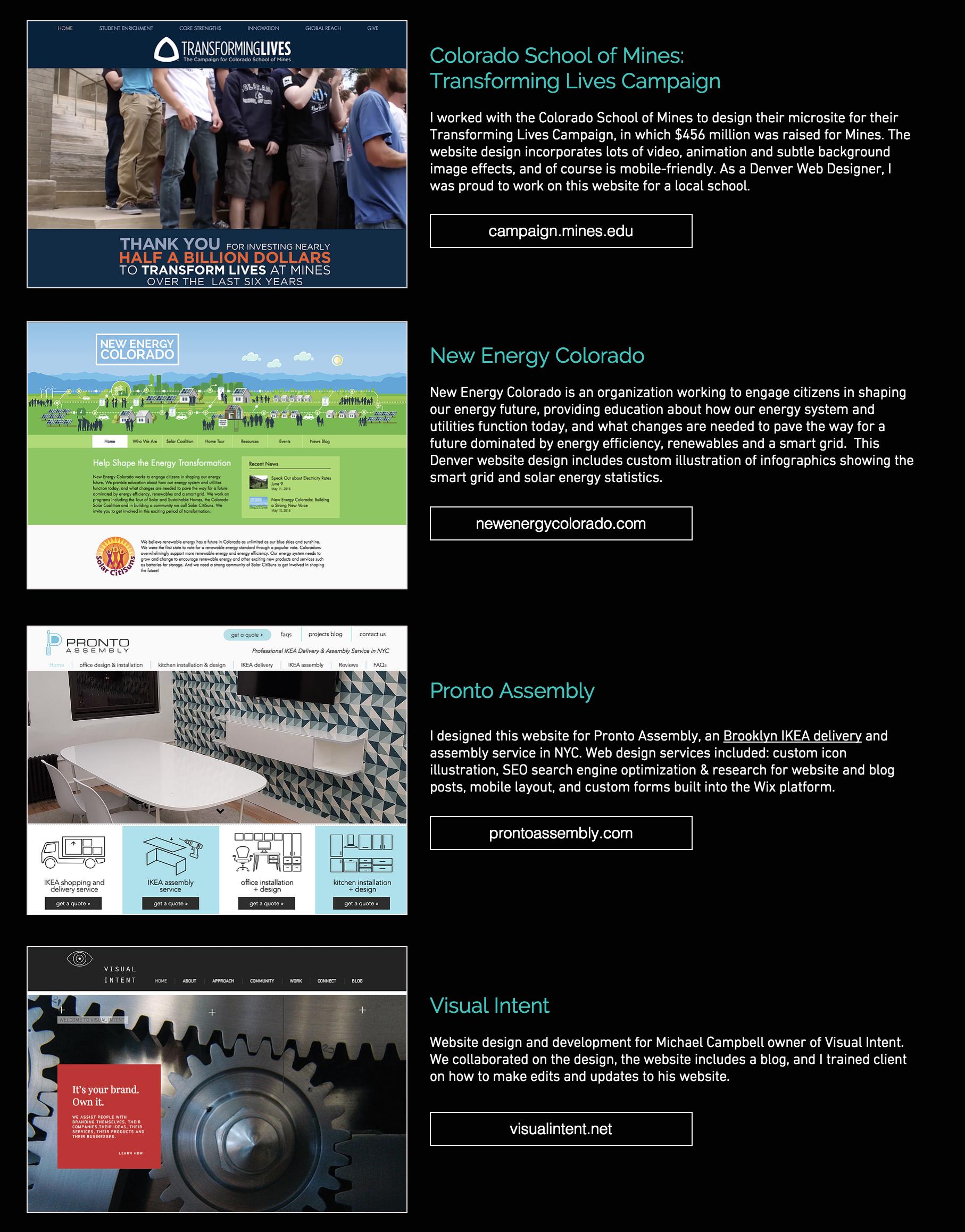 Wix Website Designer Portfolio By A Denver Web Designer Www Picklewix Com Portfolio Wix Website Design Portfolio Web Design Wix Web Design