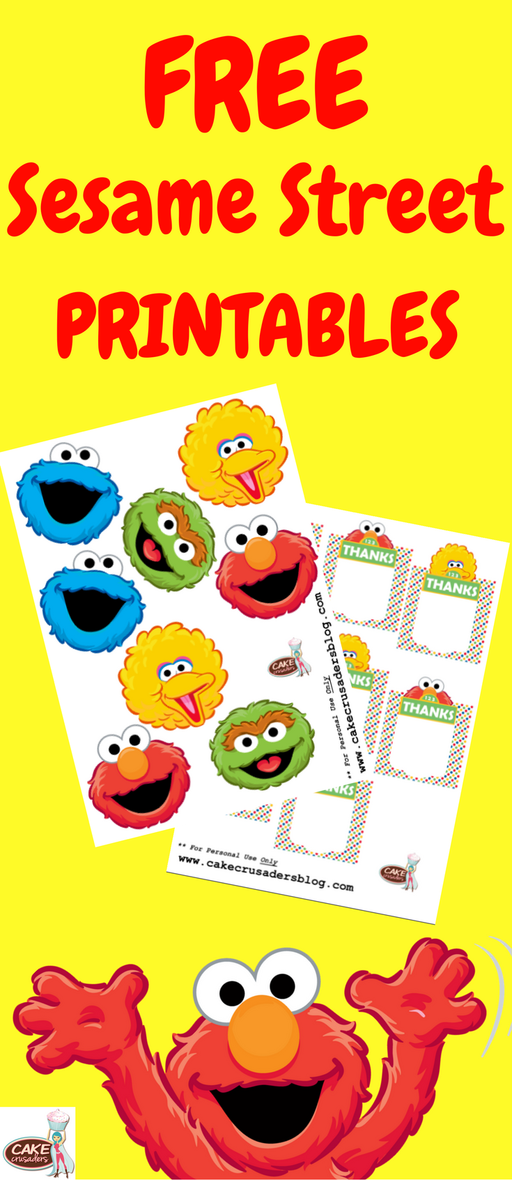DIY Sesame Street Party Favour Favor Decorations Free Printables Included With Tutorial