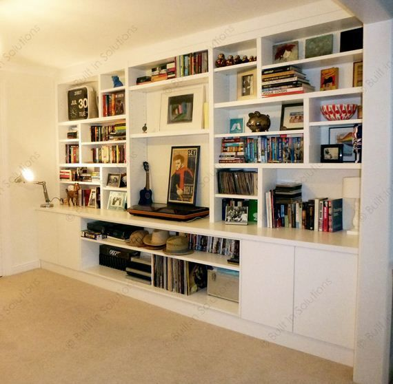 Living Room Built In Storage: Built In Cabinets, Alcove Cupboards & Built In Cupboards
