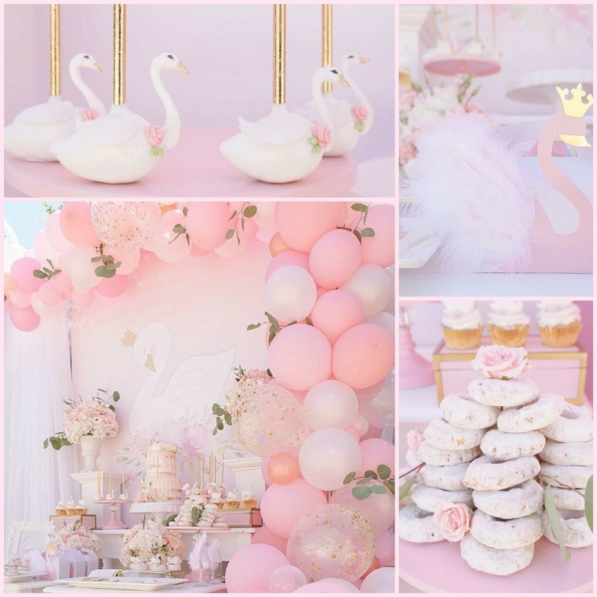 Pink Swan Party Swan Baby Shower Inspiration Babyshowerideas4u Birthdayparty Babyshowerdecorati Swan Baby Shower Garden Baby Showers Baby Shower Inspiration