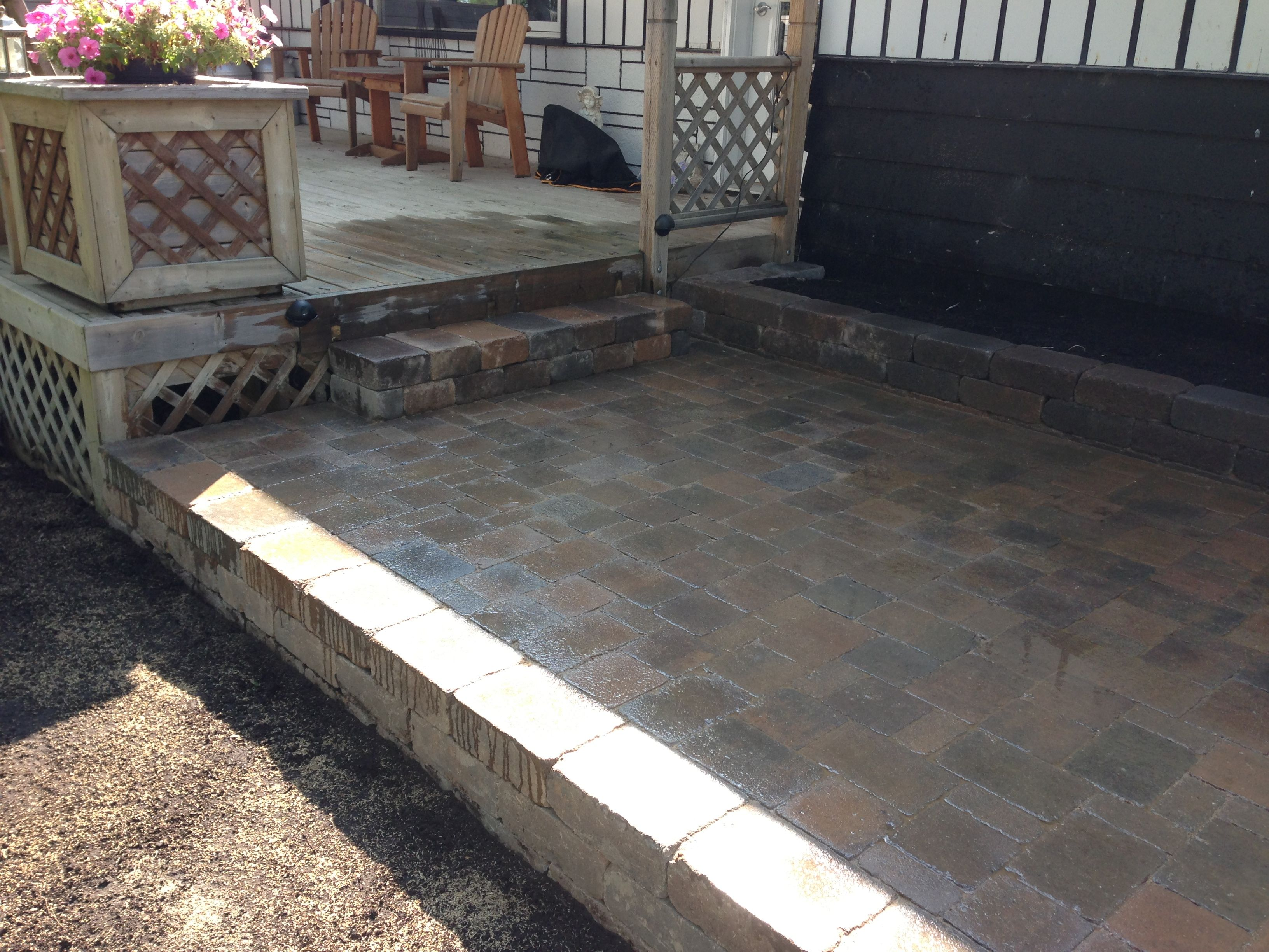 raised patio pavers. A Raised Patio Area Using Strassen Wall For The Steps And Wall, Cracovia Pavers O