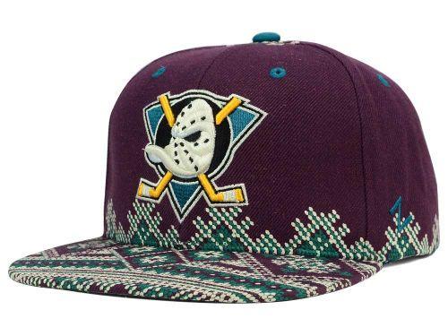 94189f81f19 Anaheim Ducks Zephyr NHL Ugly Sweater Snapback Hat Hats