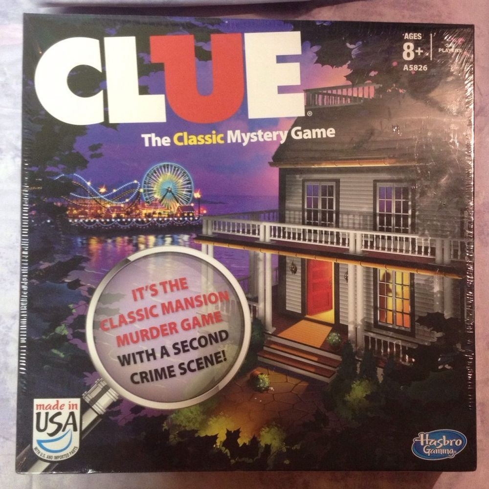 Clue The Classic Mystery Game 2Sided Game Board Mansion