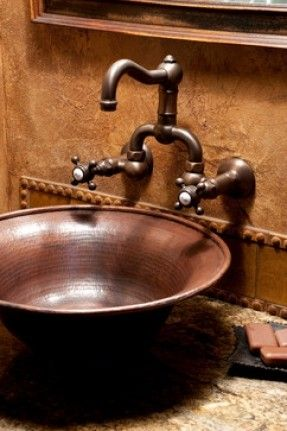 Rustic Bathroom Sink Brasada Ranch Style Homes traditional by