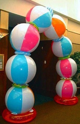 Make A Beach Ball Party Arch Luau