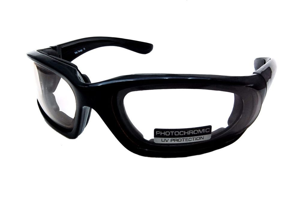 7f68062b1fd 8847A Small Motorcycle Glasses with Transitional Photochromic Clear to Grey  Lens
