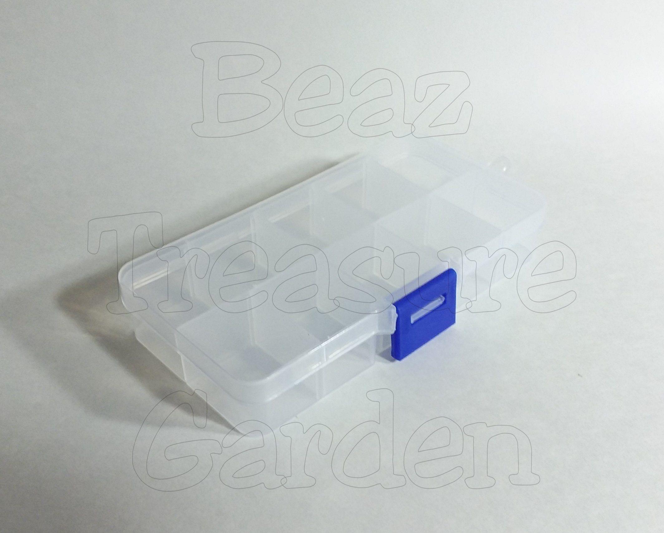 Beads Rhinestone Storage Plastic Box Case with 10 Slots