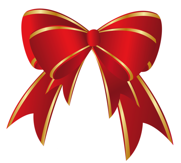 Christmas Red Gold Bow Png Clipart Christmas Bows Bow Clipart Red Christmas