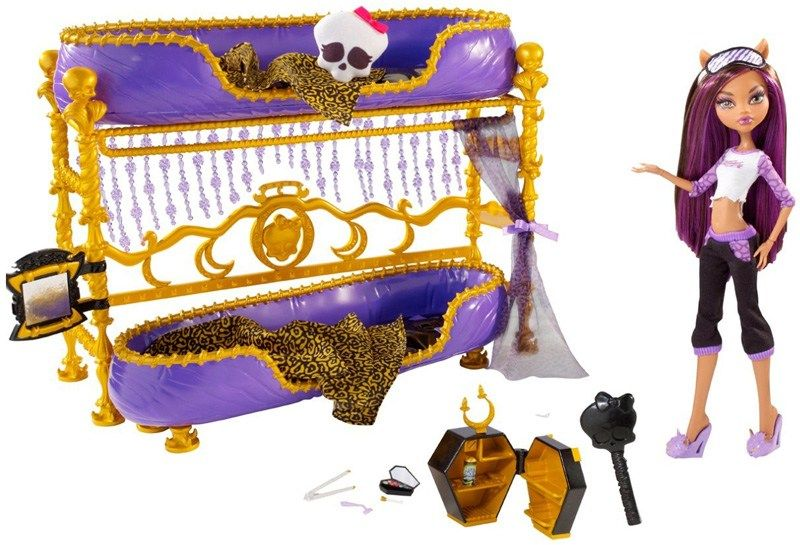 Monster High Room To Howl Bunk Bed Clawdeen Wolf Monster High Doll Accessories Monster High Room Monster High Dolls