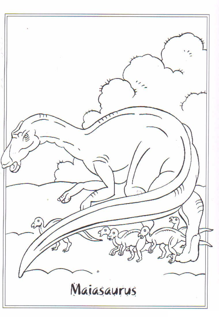 coloring page dinosaurs 2 maiasaurus coloring pinterest