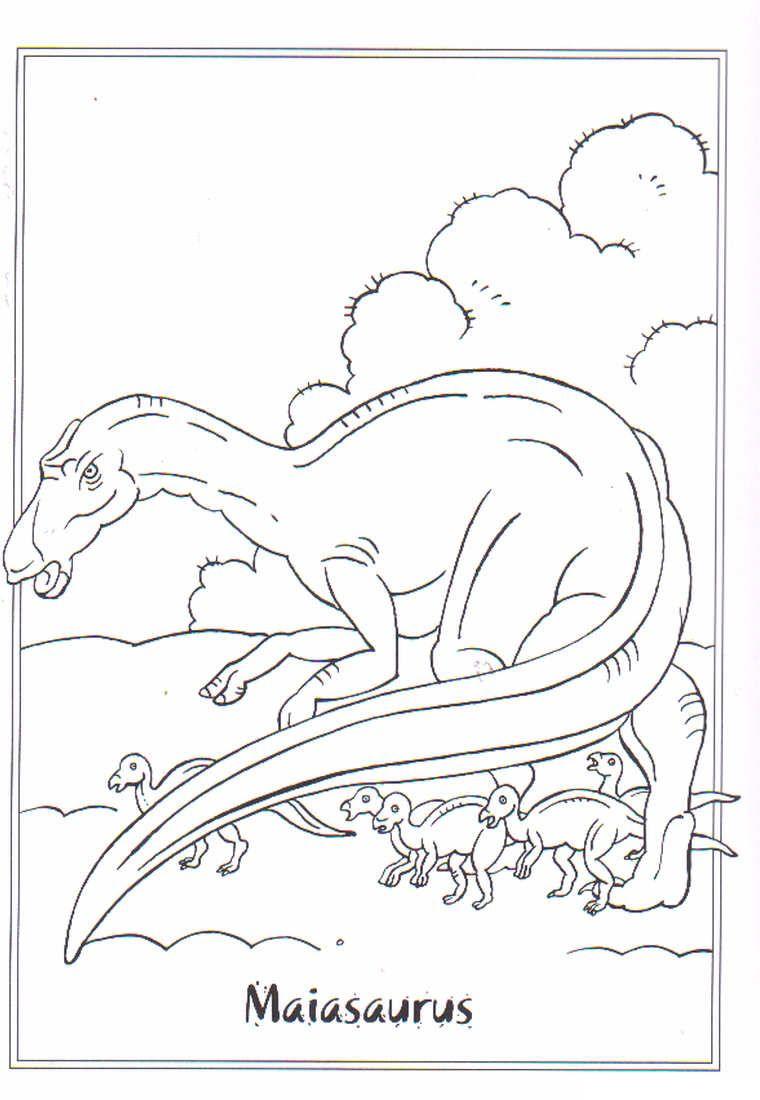Coloring Page Dinosaurs 2 Maiasaurus Coloring Pinterest