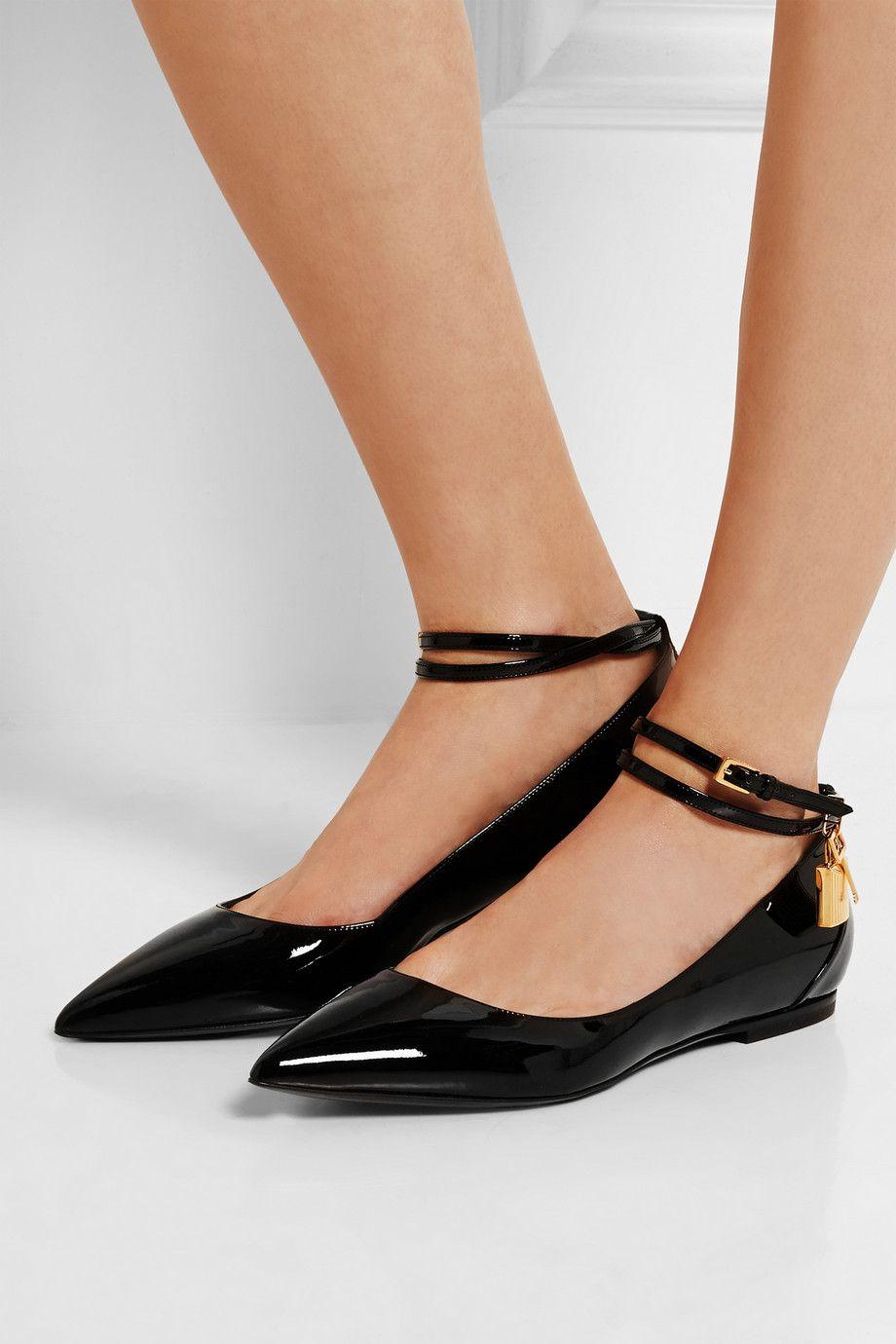 ce ce ce qu'il ne faut pas porter des ballerines doit être un noir brillant, brevets 0d439d