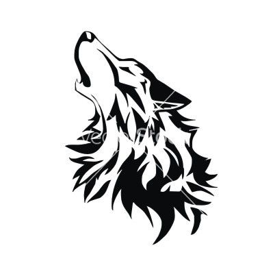Tribal wolf vector | tat | Pinterest | Tribal wolf, Wolves ...