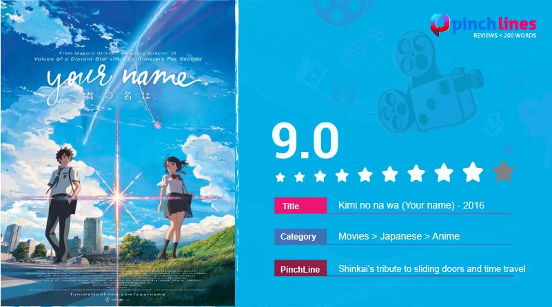 Makoto Shinkai S Tribute To Sliding Doors Sunbeams Small Towns And Time Travel Pinchlinesmoviereviews Time Travel Kimi No Na Wa Movies