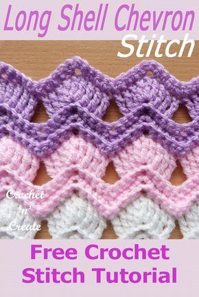 Long Shell Chevron Stitch Free Crochet Tutorial