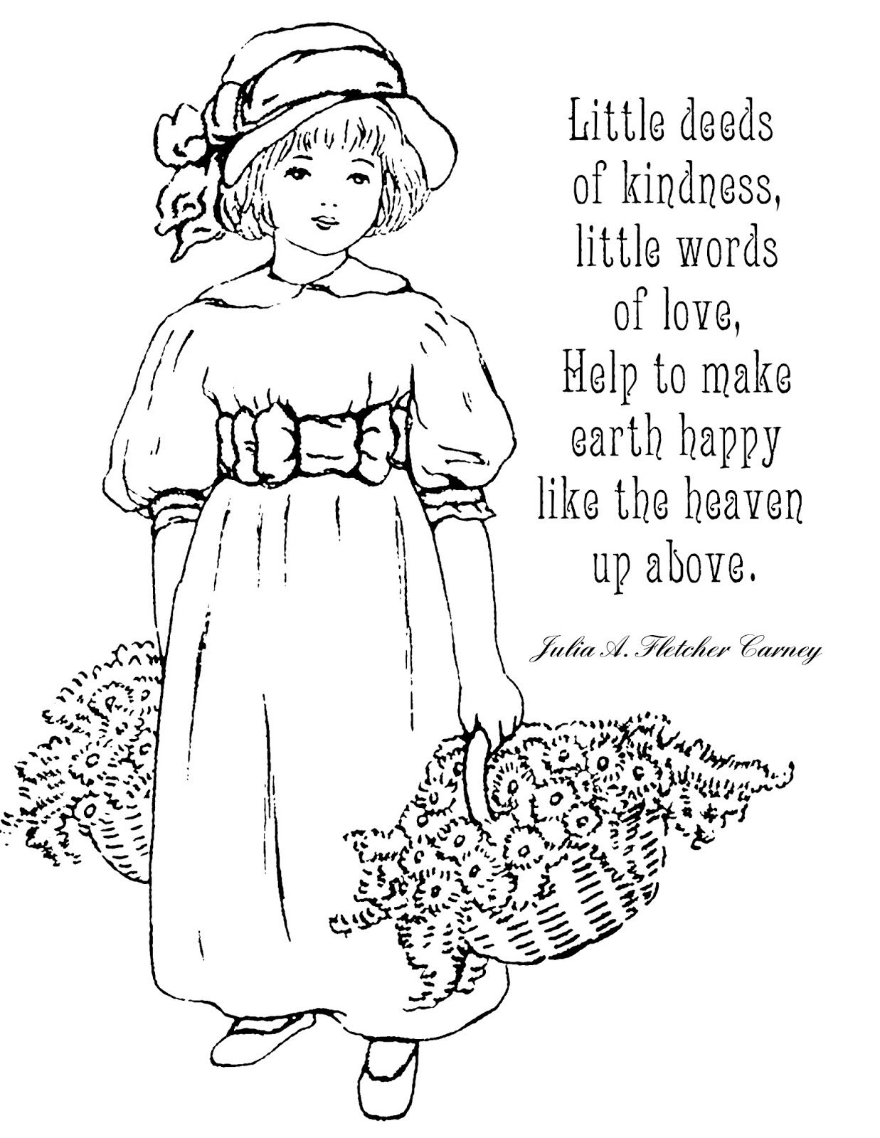 Coloring pages with quotes - 8 5 X 11 Printable Coloring Page With Quote About Kindness