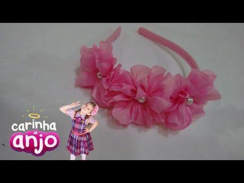 Como fazer tiara carinha de anjo modo fácil!! - YouTube   cabelo ... e2ec5cea10