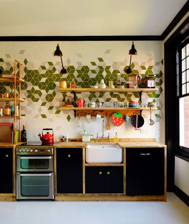 Kitchens Paper Mosaics Plywood Kitchen Kitchen Tiles Design