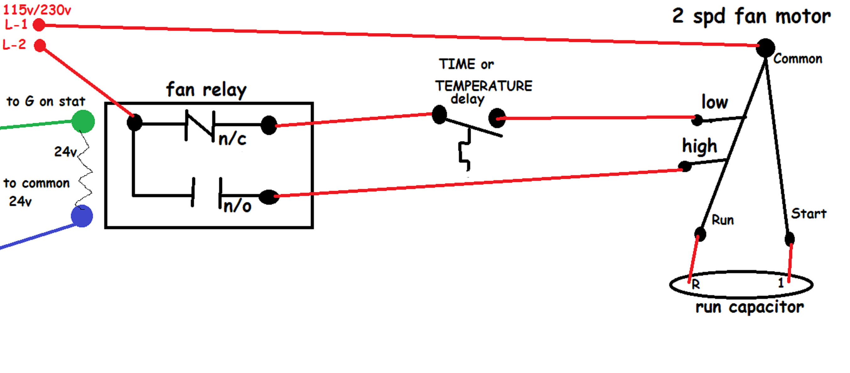 Hvac Heater Fan Relay Wiring - Get Wiring Diagram on