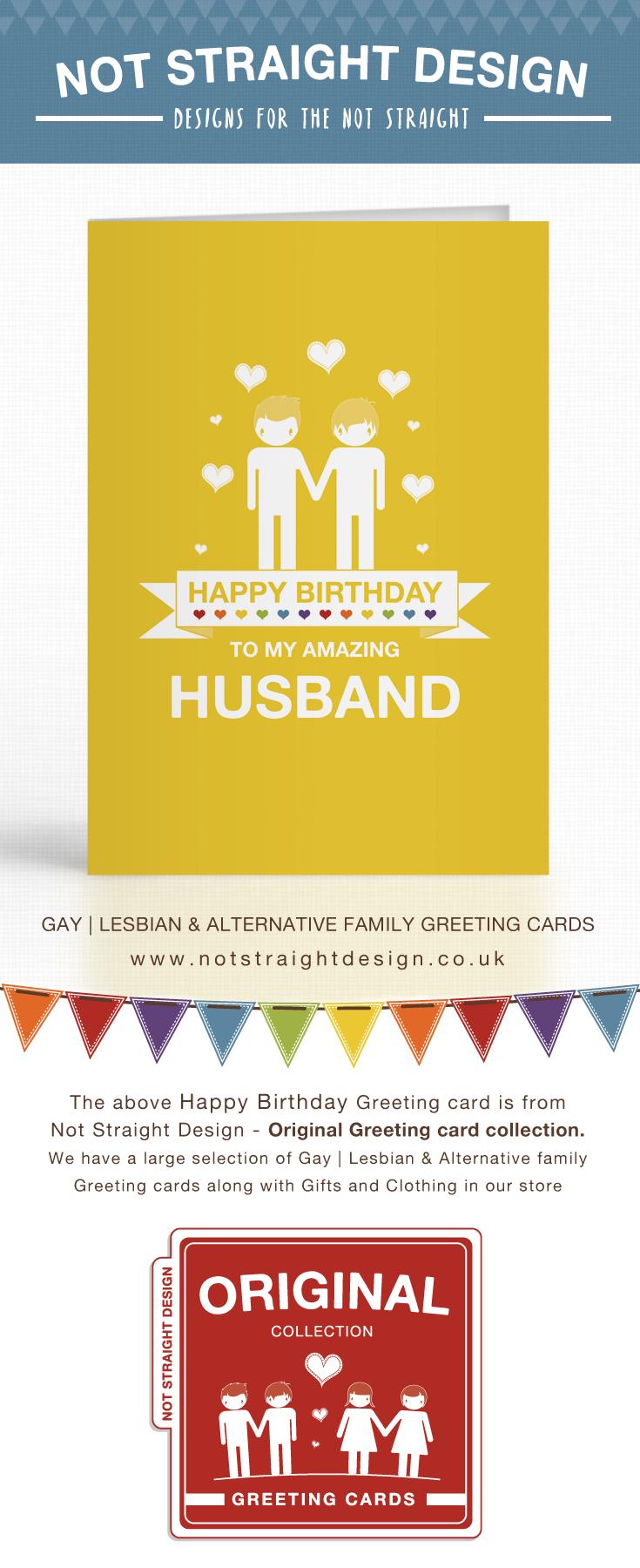 Yellow Amazing Husband Happy Birthday Card Pinterest Amazing