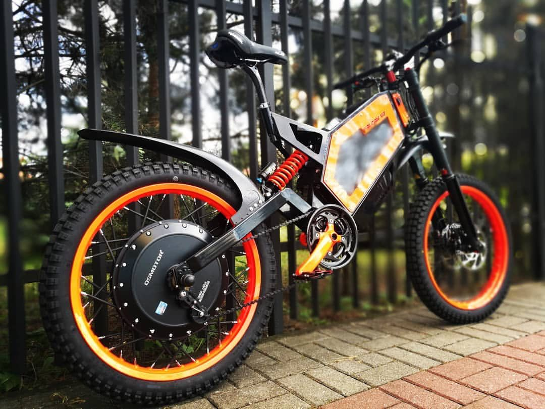 Cyklon Ebike Orange With Mudhugger Fenders Elektricheskij