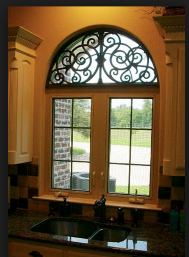 breathtaking tuscan style kitchen windows   Pin by Jennifer Barnaby on Font Doors   Arched window ...