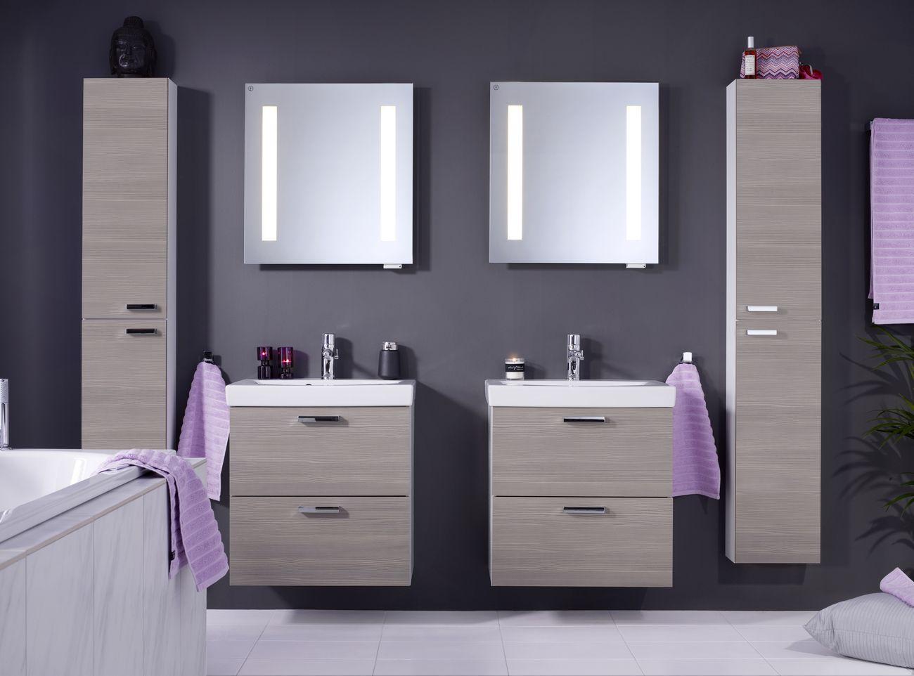 Badrumsmöbler Installation : Trivsamt trendigt och praktiskt med logic tvättställskåp i färgen