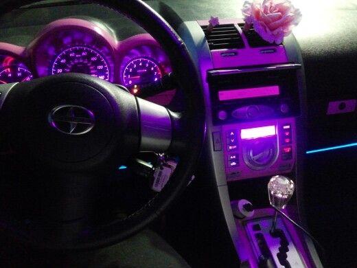 led lights pink purple car interior scion my scion. Black Bedroom Furniture Sets. Home Design Ideas