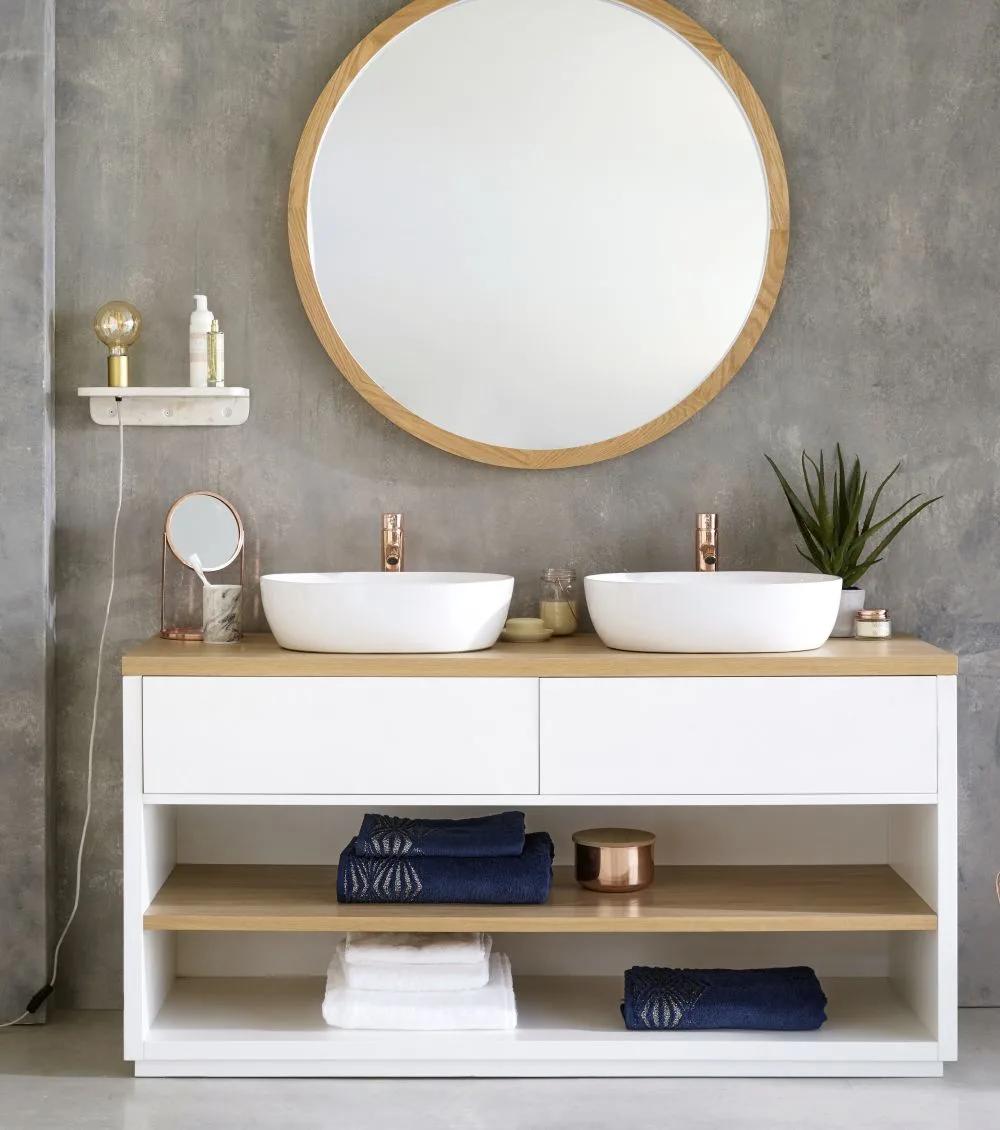 Doppel Waschtisch Mit 2 Schubladen Weiss In 2020 Schlafzimmer Wandspiegel Doppelwaschtisch Und Waschtisch Holz Schubladen