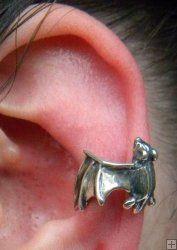 Bat Ear Cuff  Repulsed by the blackheads in the ear  EWW