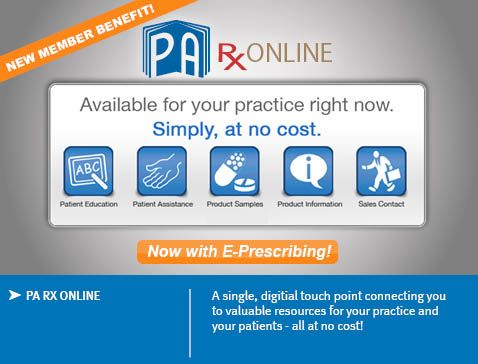 PA-RX Online - Over 21,000 point-of-care resources are available, along with a free e-prescribing service for you. Additional benefits are added daily.
