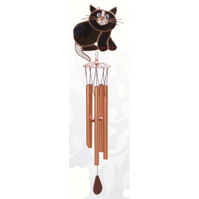 Gift Essentials Black Cat Wind Chime - GE185