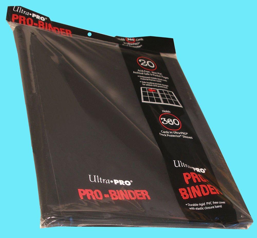 ULTRA PRO 9 POCKET BLACK BINDER STORAGE 360 Side Loading