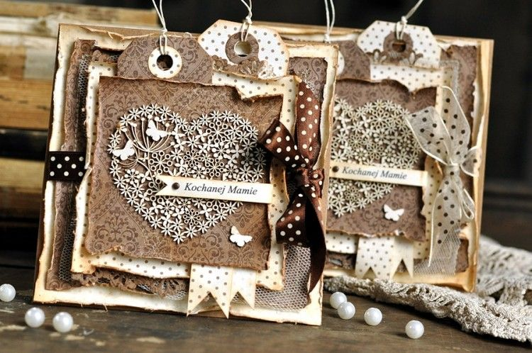 Brown cards by Ewa