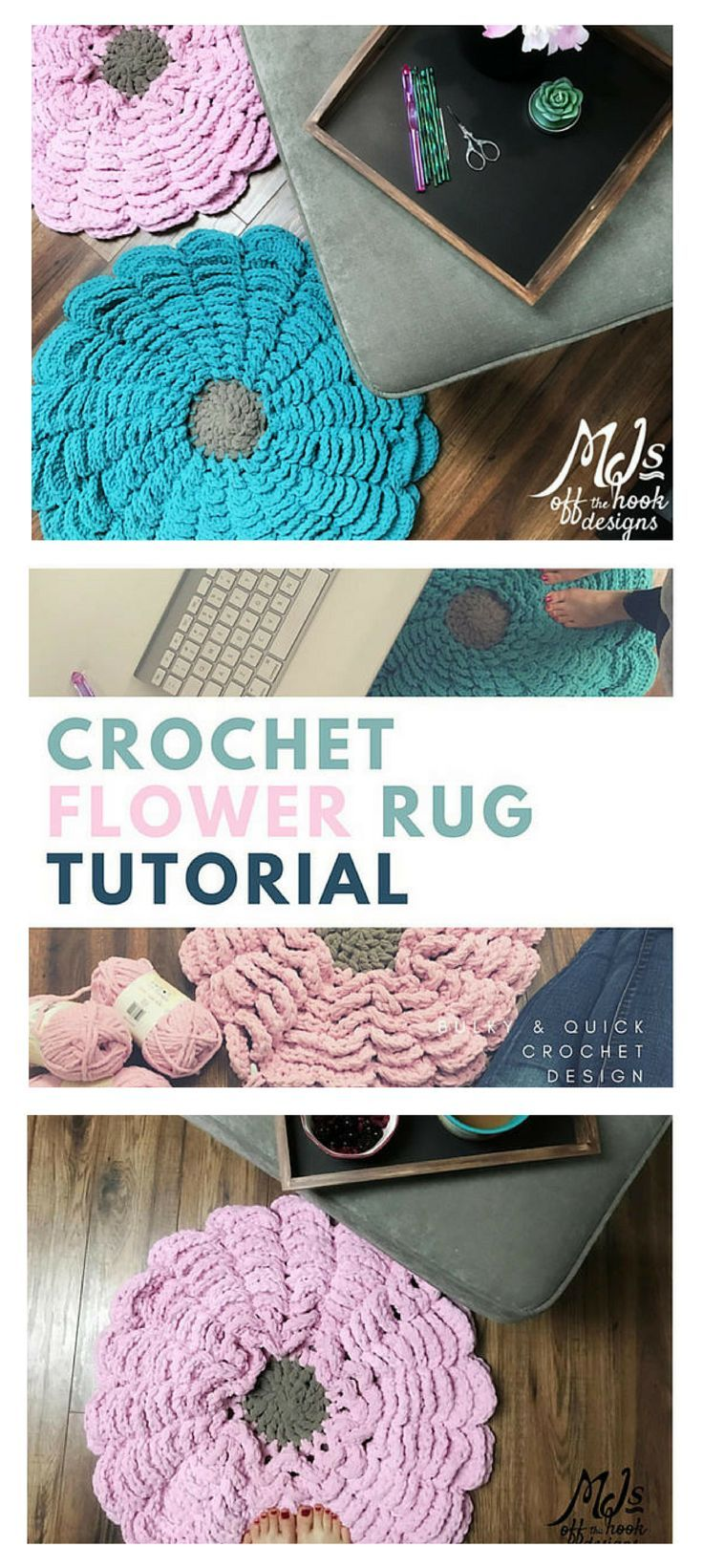 Flower Rug Crochet Pattern For Bulky And Quick