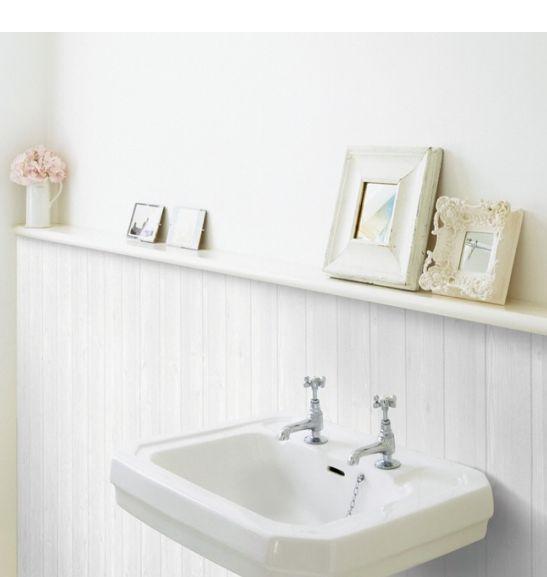 White Wood Panel Effect Home Deco Vinyl Wallpaper Contact Paper 53 8 Sq Feet Beadboard Bathroom Beadboard White Wood Paneling