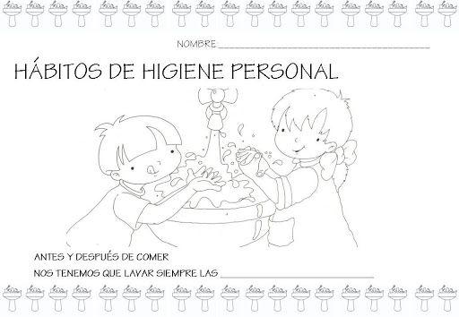HABITOS DE HIGIENE PERSONAL PARA COMPLETAR Y COLOREAR HIGIENE ...