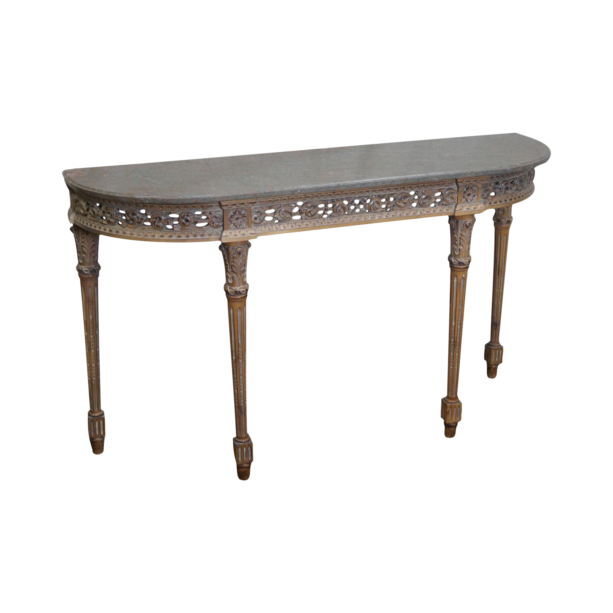 Superieur Trouvailles French Louis XVI Style Marble Top Console Table On Chairish.com