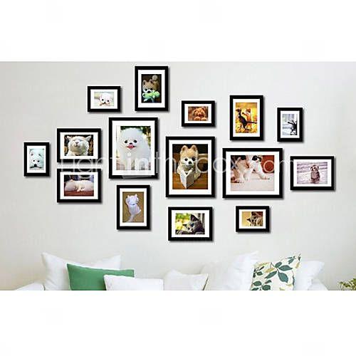 cadre photo moderne mur collection jeu de 15 pm 15c b crafts frames on wall. Black Bedroom Furniture Sets. Home Design Ideas
