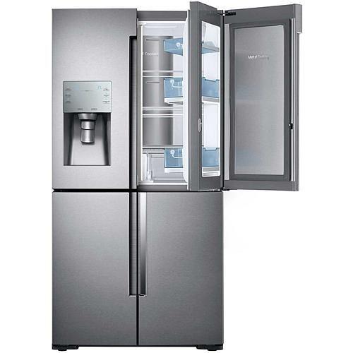 Samsung 22 Cu Ft 4 Door Counter Depth Refrigerator With Flex Food