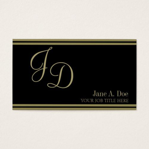Yourjobtitle Fancy Black Gold Stripes Business Card Zazzle Com