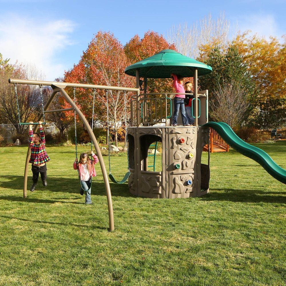 lifetime adventure tower playset swingsets pinterest tower