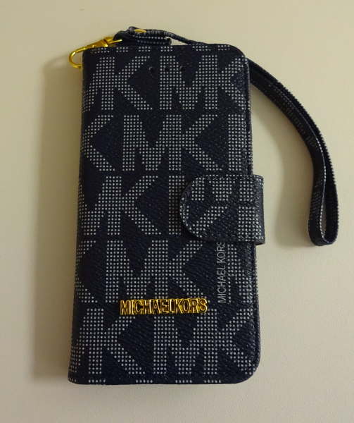 efd3c8423baee Michael Kors MK Cell Phone Wallet Case Fits Samsung Galaxy S6 Black -  Cases