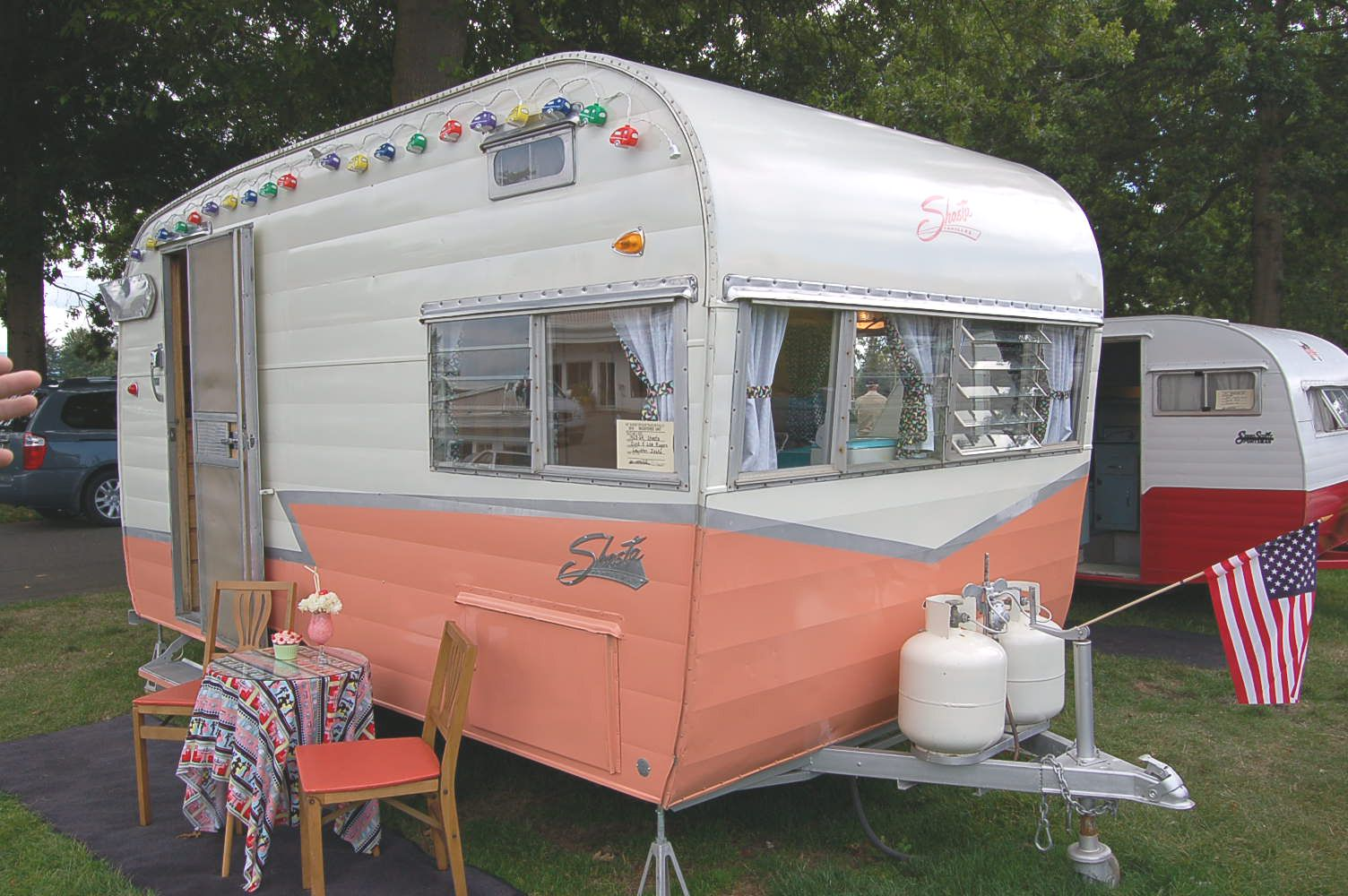 1963 Shasta Rear Entry Vintage Travel Trailer Camper Canned Ham These Look Like So Much