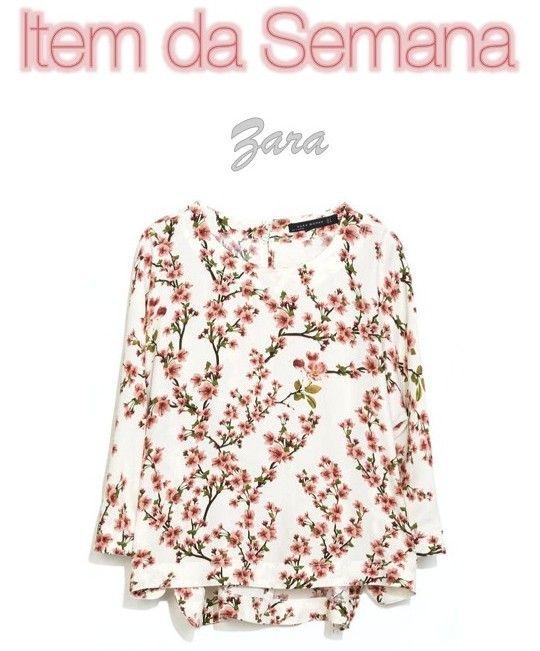 O item da semana é uma blusa florida da Zara. Espero que vocês gostem das combinações que fiz com ela.