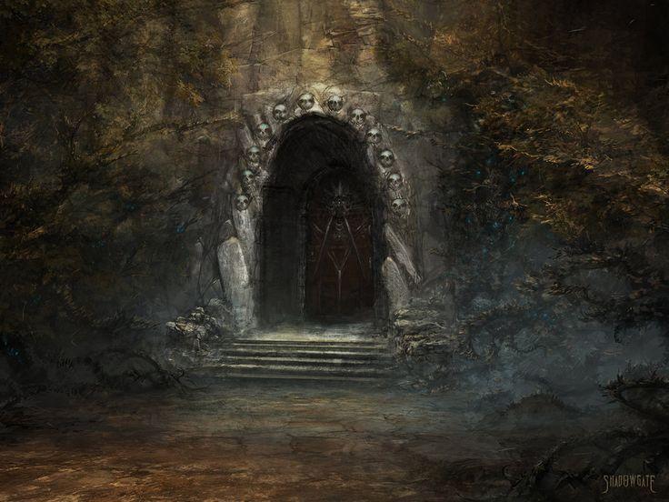 Image result for dungeon entrance Fantasy landscape