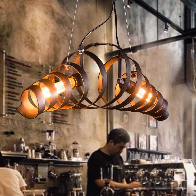 Loft Retro Vintage Pendant Lights Industrial Wrought Iron Lamps Bar Cafe Restaurant Suspension Luminaire Home
