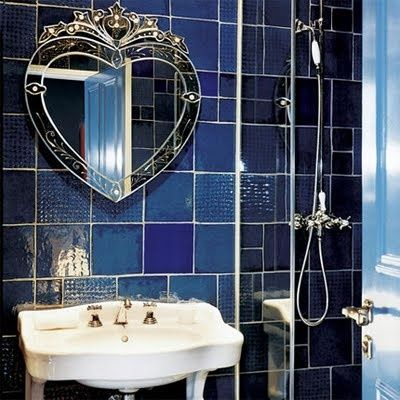 images about bathroom on pinterest vanity units blue mosaic and roller blinds: blue bathroom tile ideas