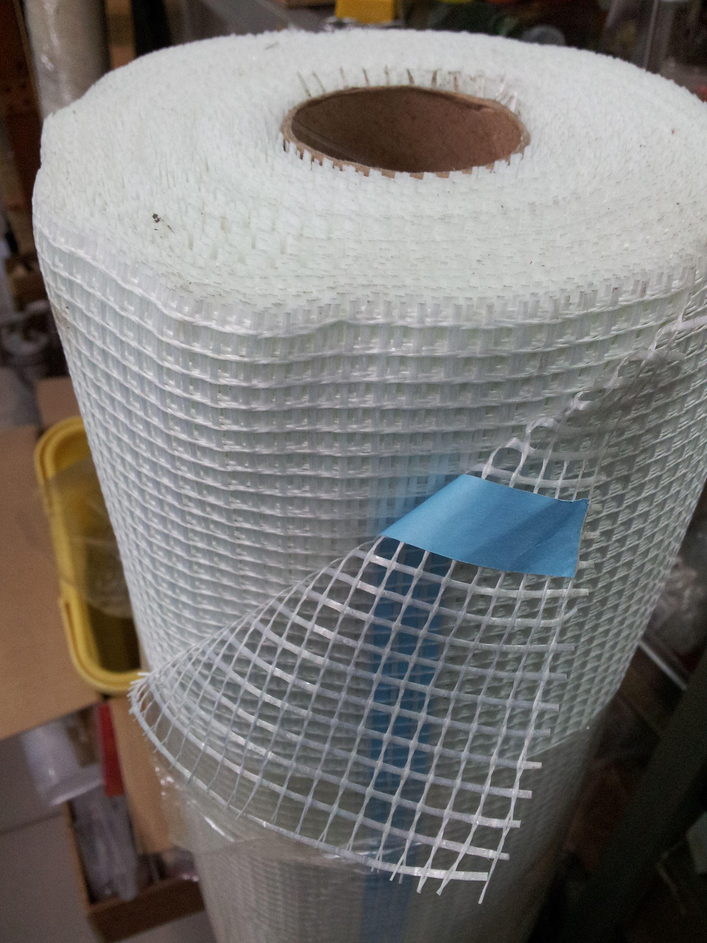 Fiberglass mesh adhesive back 5x5mm in 145gmeter square