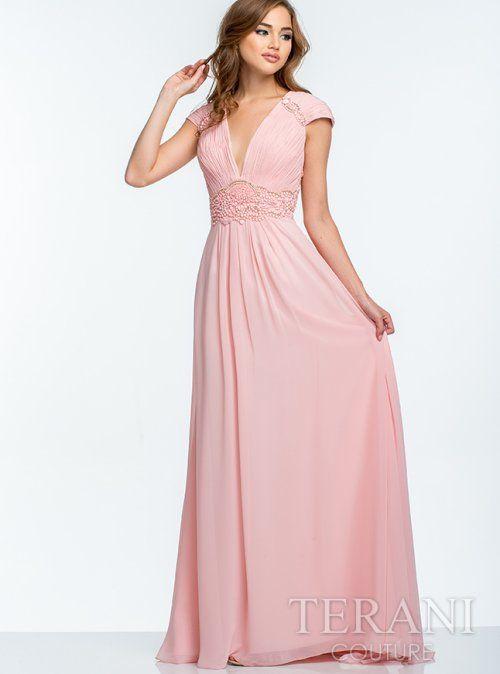 luz madre rosada del vestido de la novia 2015 con cuello en V 2015 ...